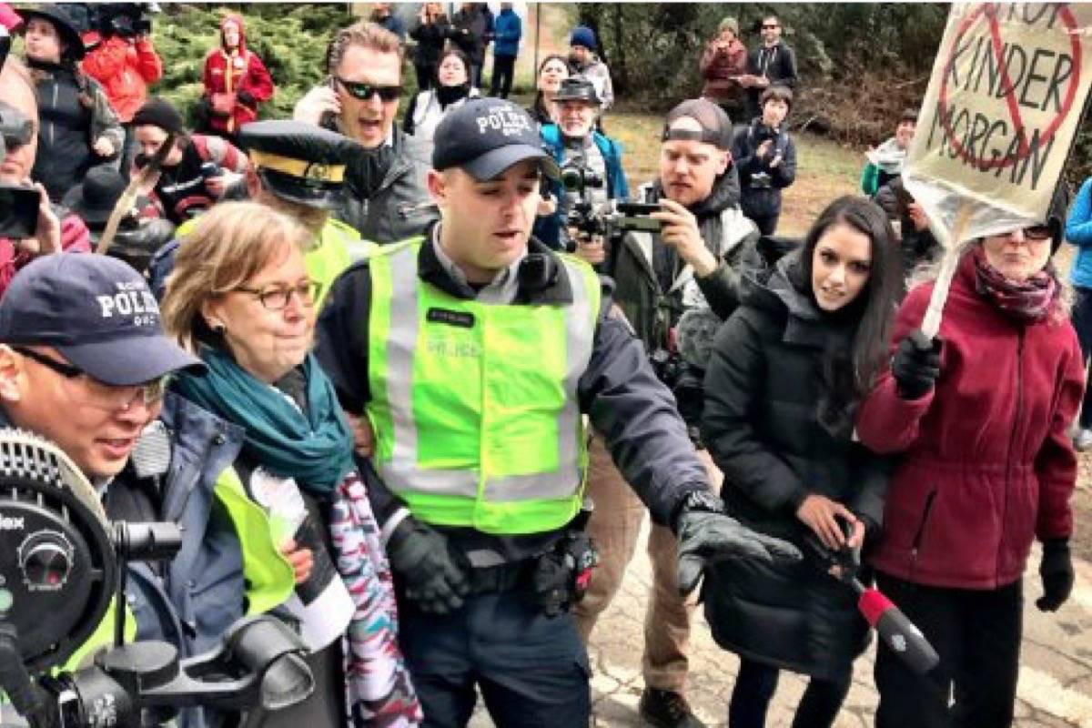 Image result for B.C judge says Kinder Morgan protesters to face criminal charges