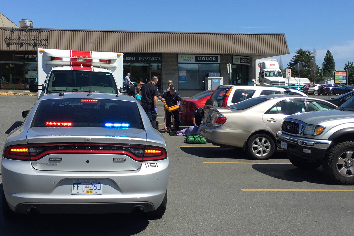 update: woman hitcar in parking lot 93 years old – victoria news