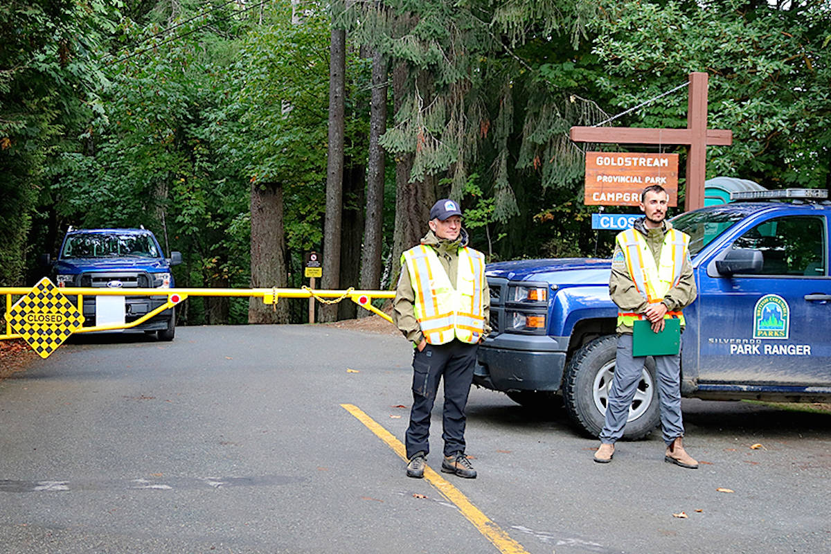 Only tent city residents allowed access at Goldstream Park
