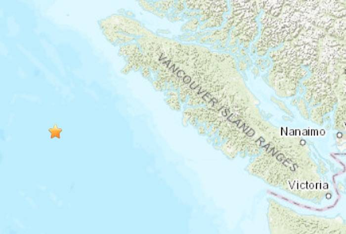 Minor Earthquake Recorded Off Coast Of Vancouver Island Victoria News - Vancouver-on-us-map