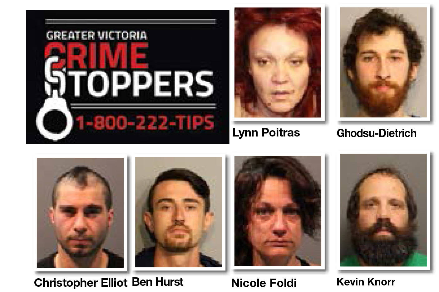 Greater Victoria Crime Stoppers wanted list for the week of