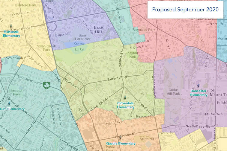 SD61 unveils new proposed catchment areas for Victoria – Victoria News