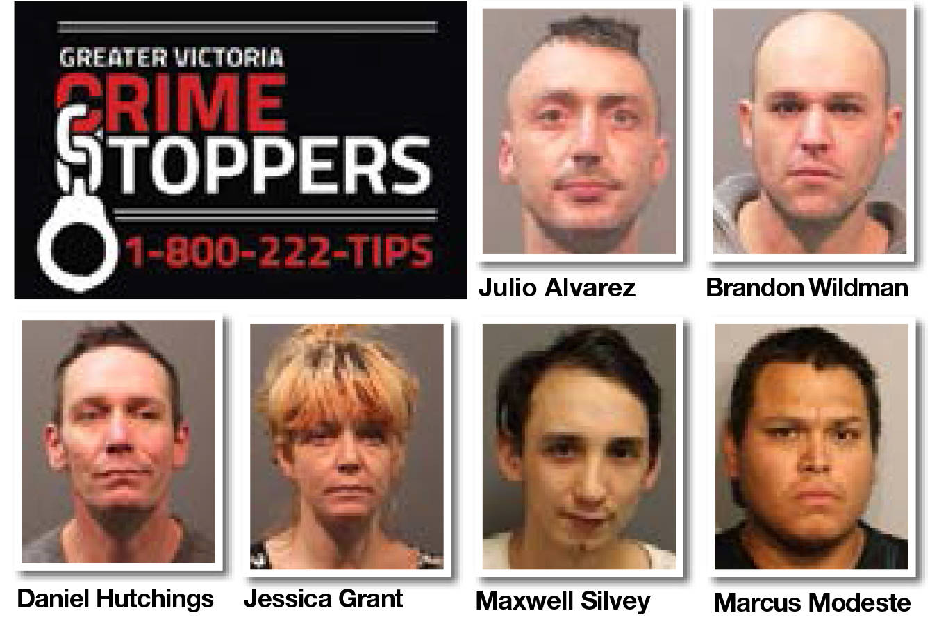 Crime Stoppers most wanted for Greater Victoria for the week