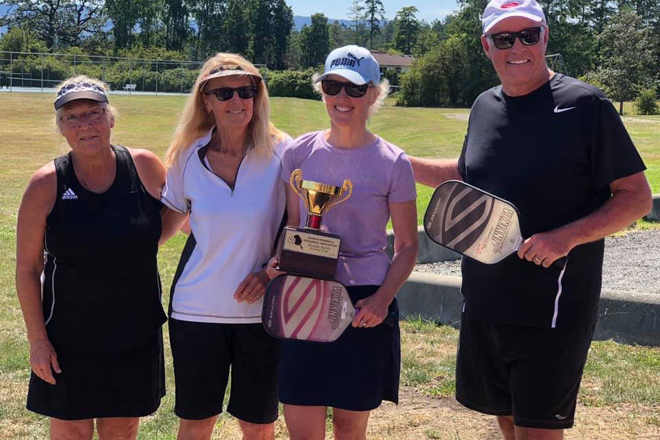 Pickleballers tackle first fun tourney at newest North Saanch courts
