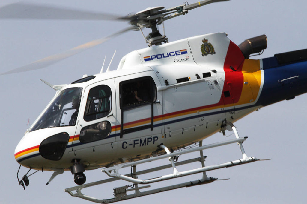B.C. RCMP plane chases fleeing helicopter as part of major cross-border drug bust