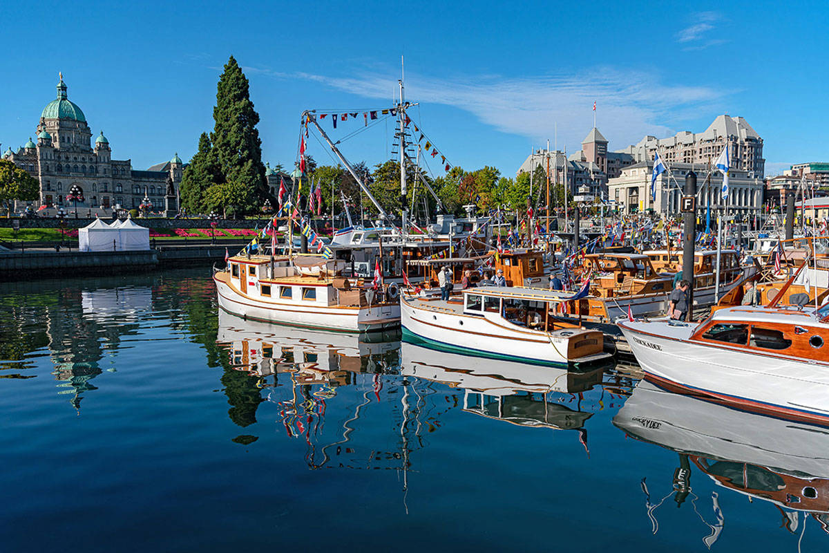 Ahoy! Ships from all over northwest coast will moore at the Inner Harbour this weekend
