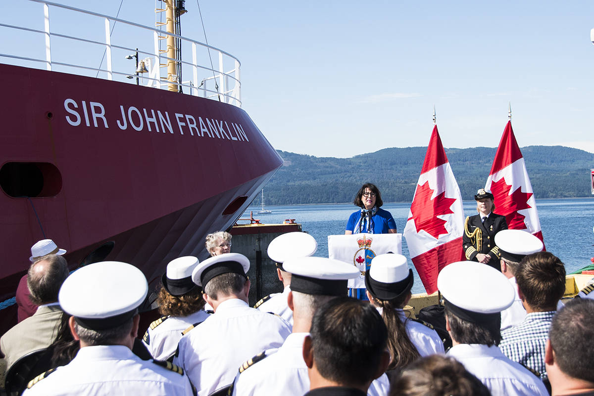 Sir John Franklin research vessel officially joins Canadian Coast Guard fleet