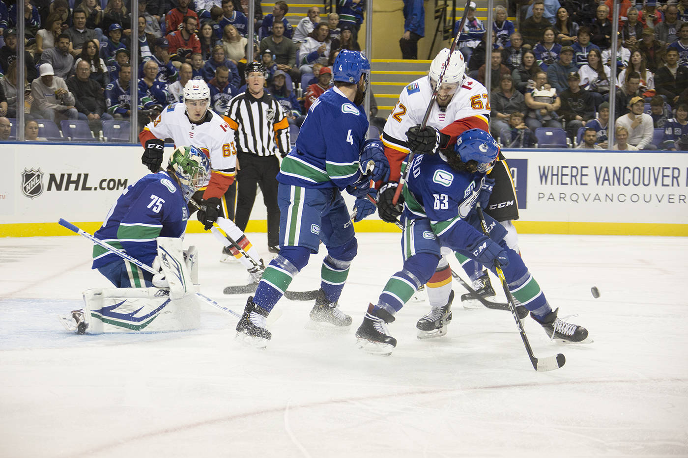 Photos Vancouver Canucks Face Off Against Calgary Flames In Victoria Victoria News
