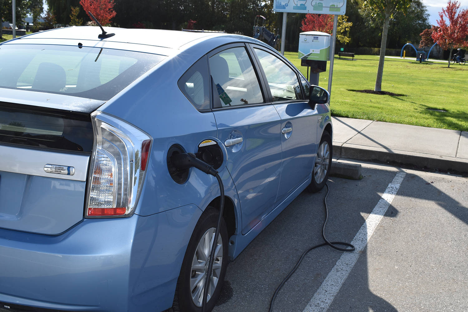 Sidney records the second-highest rate of electric vehicle ownership on Vancouver Island