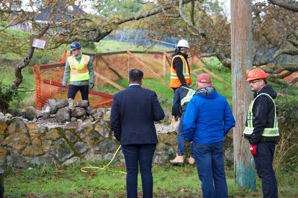 Greater Victoria developer rushes to demolish historic wall before Oak Bay applices heritage permit
