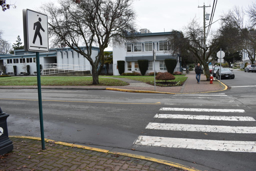 Two Sidney seniors struck by vehicle with foggy windows in marked crosswalk - Victoria News
