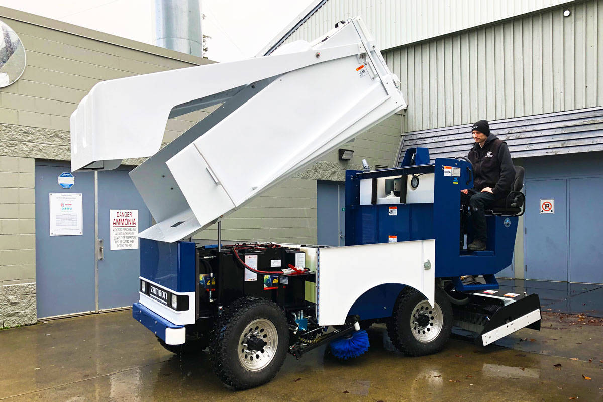 Saanich swaps last propane-powered Zamboni for electric model