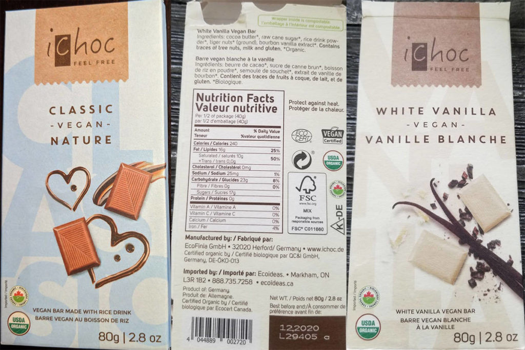 Food inspection agency says variety of vegan chocolate bars contains milk - Victoria News